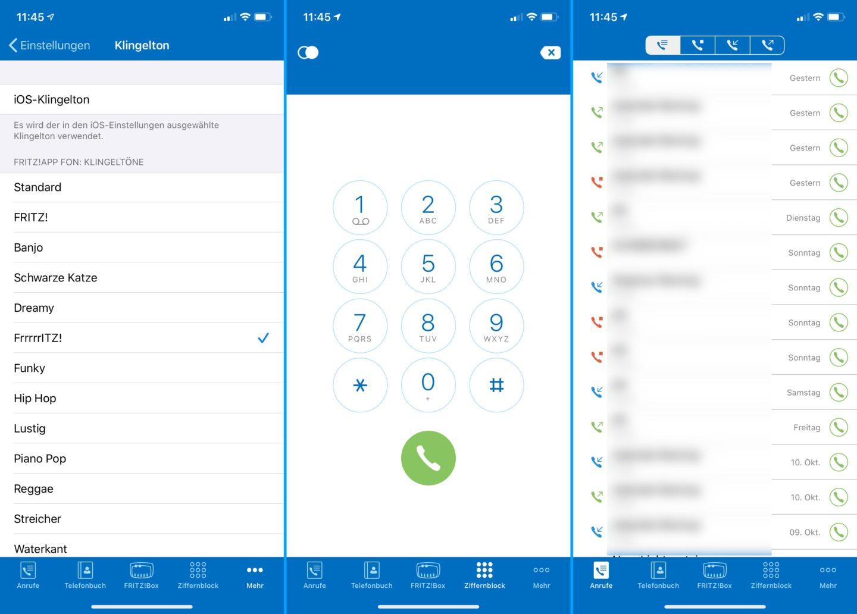 Mit der FritzApp wird das iPhone zum Festnetz-Telefon.