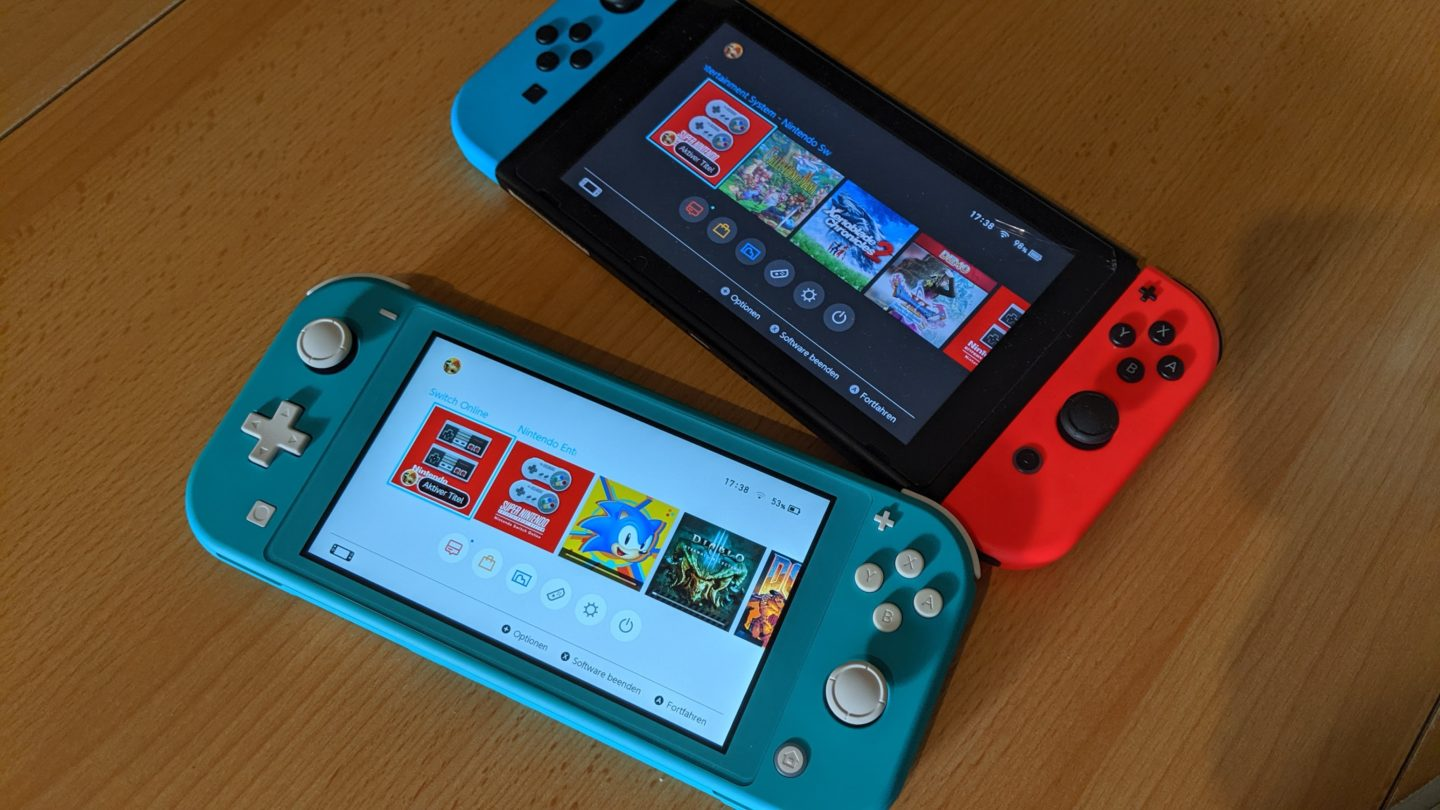 Nintendo Switch Lite und Switch