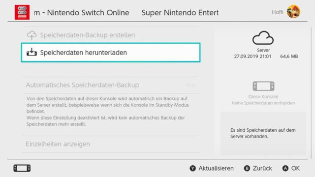 Switch Download Save States