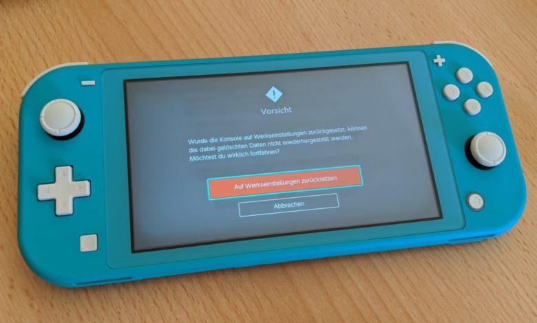Bild von Nintendo Switch auf Werkseinstellungen zurücksetzen