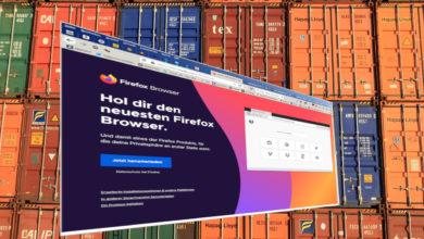 Bild von Apps in Docker-Container packen, am Beispiel Firefox