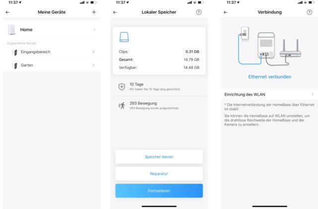 Eufycam 2C App für iPhone
