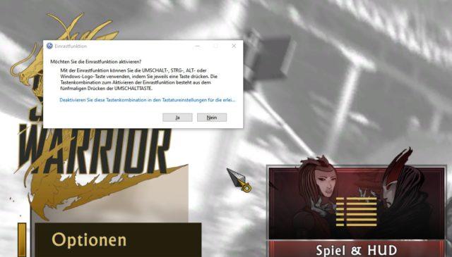 Windows Einrastfunktion Spiel