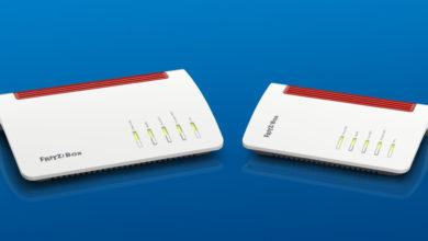 Zwei FritzBoxen dienen auch als WLAN-Telefonbuchse. (Bild: AVM)