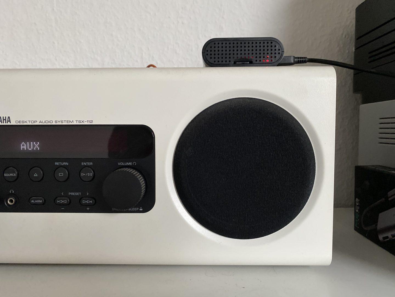 An der Stereoanlage verhält sich der Musik-Raspberry unauffällig. (Bild: Tutonaut)