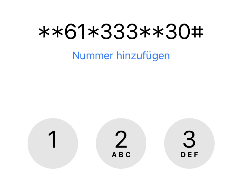 Per GSM-Code passt Ihr die Mailbox an den Klingelton an.