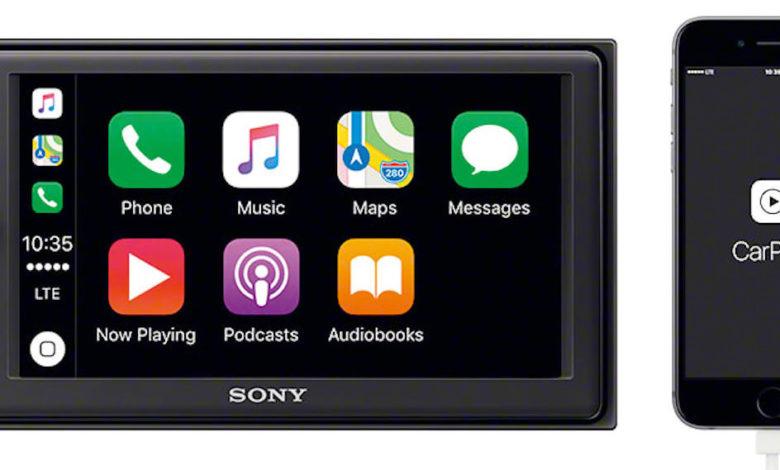 Ein CarPlay-Radio wie Sonys XAV-1000 kann in vielen Automodellen nachgerüstet werden (Bild: Sony)