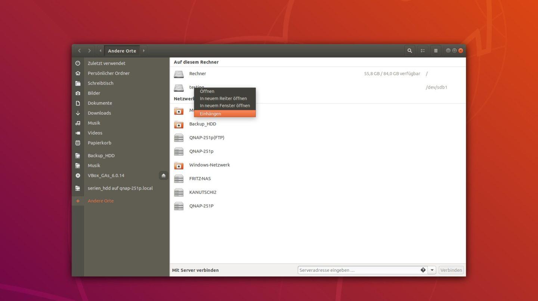ubuntu festplatte