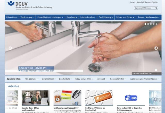 Deutsche Gesetzliche Unfallversicherung Homepage