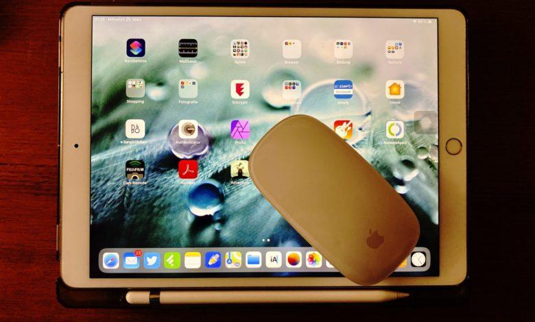 Das iPad kann jetzt mit der Maus bedient werden. (Foto: Tutonaut)