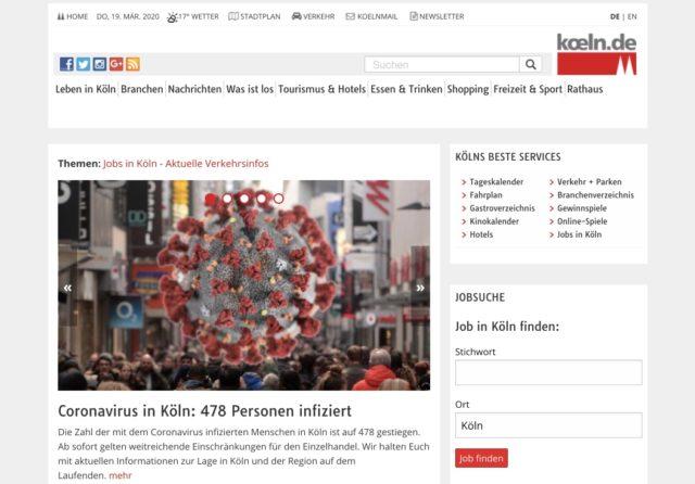 Köln Homepage