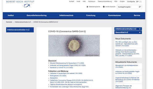 Robert-Koch-Institut Homepage
