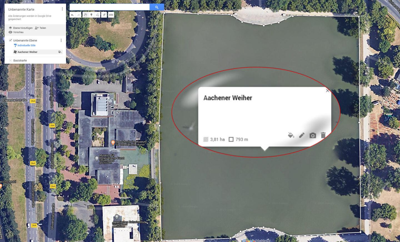 Aachener Weiher mit My Maps