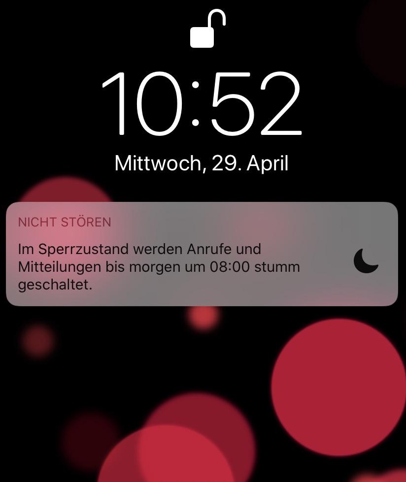 Bitte nicht stören: Das iPhone sorgt mit den richtigen Einstellungen zur rechten Zeit für Ruhe!