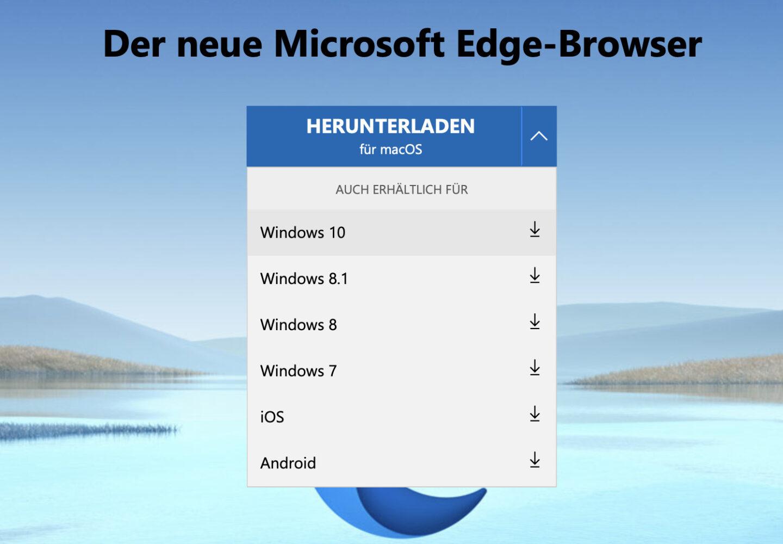 Edge gibt es für die wichtigsten Betriebssysteme. Nur Linux ist (noch) nicht dabei.