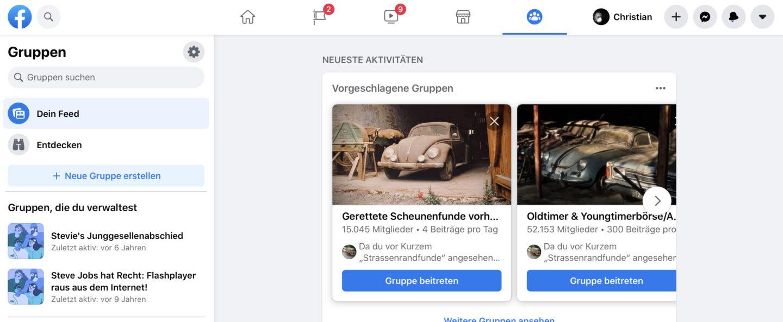 Facebook Posts Löschen