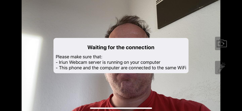 Die Verbindung wird hergestellt, sobald die Desktop-App läuft.