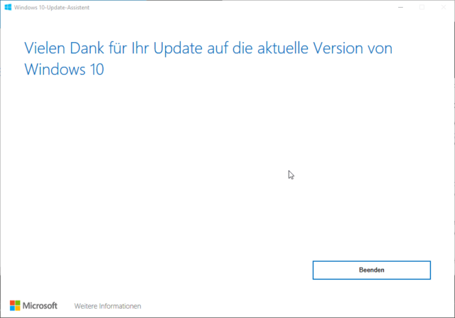 Windows 10 Update Assistent