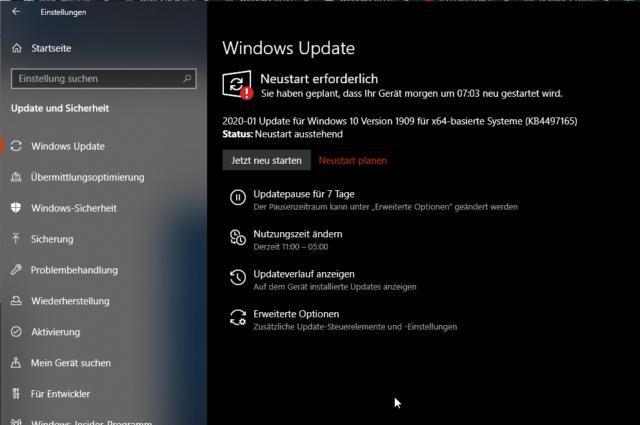 Windows 10 Update gefunden