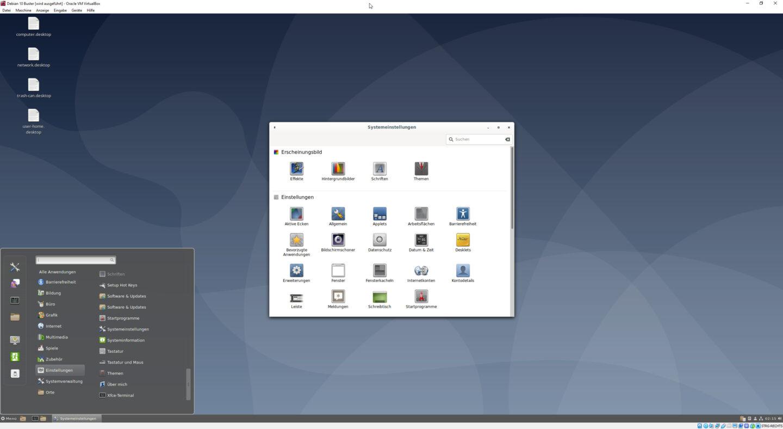 linux desktop screenshot