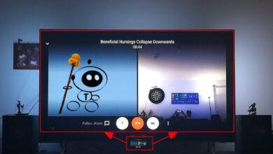 Bild von Videokonferenz auf dem TV – per Smartphone