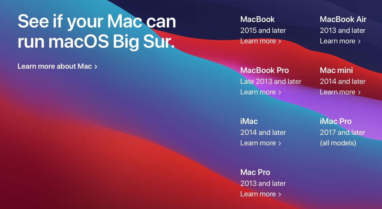 Sieben Jahre alter Mac? Kein Problem! (Screenshot Apple.com)