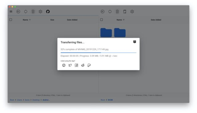 OpenMTP Dateien kopieren macOS Android