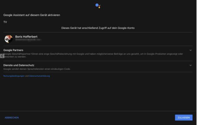 Sonos Arc Google Assistant einrichten