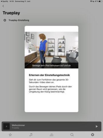 Trueplay iPad einrichten