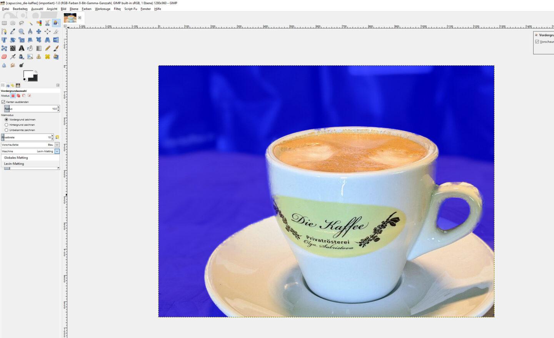 gimp freistellen screenshot