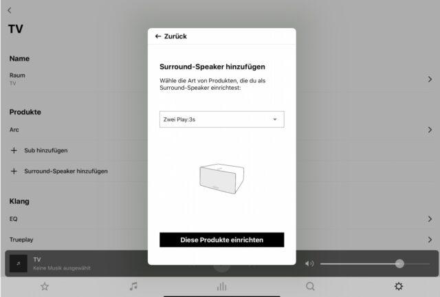 Sonos Surround-Speaker einrichten Sonos Arc