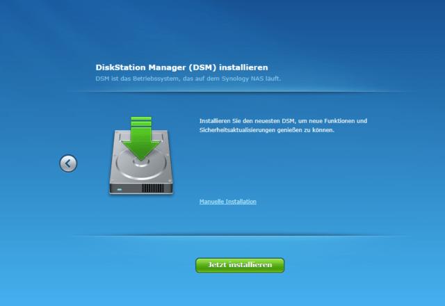 Synology DiksStation Manager installieren