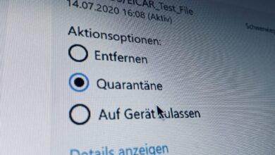 Bild von Windows 10: Dateien und Ordner auf Viren untersuchen