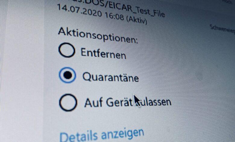 Windows 10 Virus gefunden