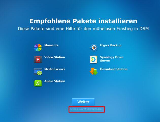 synology apps nicht installieren
