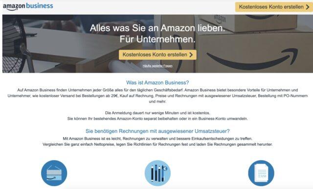 Amazon Business kostenlos