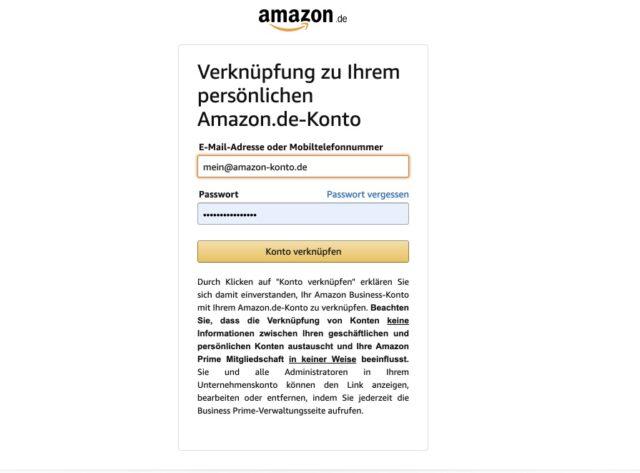 Amazon Konto privat verknuepfen