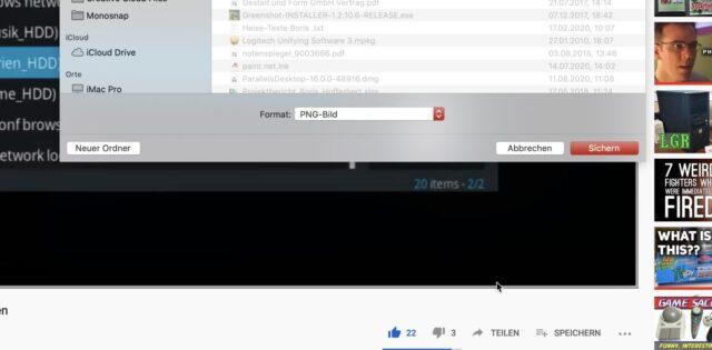 YouTube Screenshots erstellen Chrome
