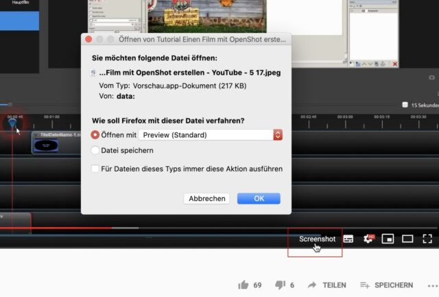 YouTube Screenshots erstellen mit Firefox