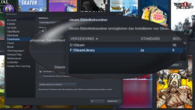 Bild von Steam: Mehrere Installationsordner zur Auswahl