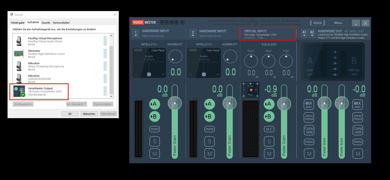 voicemeeter screenshot