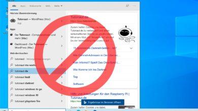 Bild von Windows 10: Bing-Suche im Startmenü ausschalten (Update für 2020)