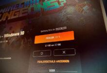 Minecraft Dungeons Xbox App Error