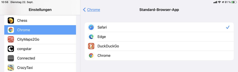 Wenn die Browser-App die Funktion unterstützt, könnt Ihr sie hier auswählen.