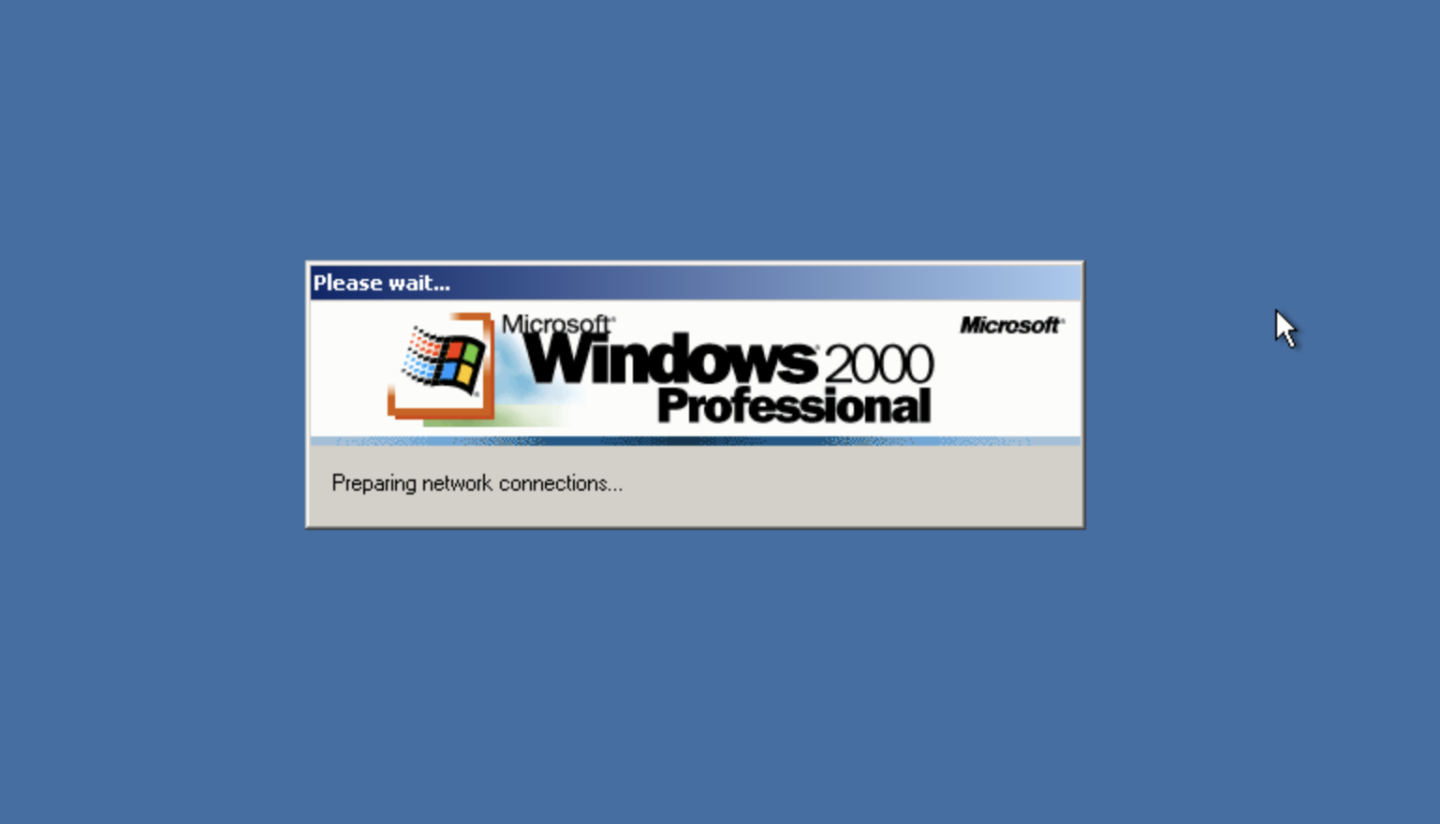 Windows 2000 im Browser.