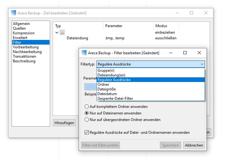 areca screenshot