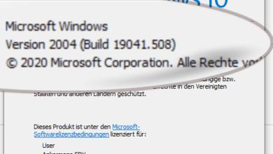 Bild von Windows-10-Version anzeigen