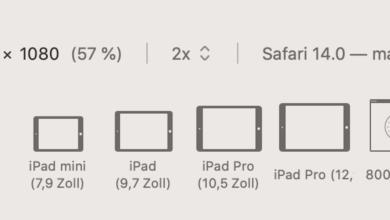 Safari besitzt einen praktischen Responsive-Modus.