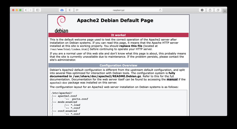 Wenn Ihr diese Seite seht, ist Euer Raspi-Webserver aktiv.