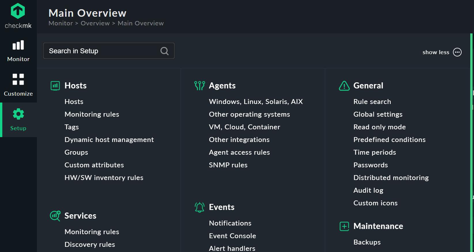 checkmk 2.0.0i1 screenshot